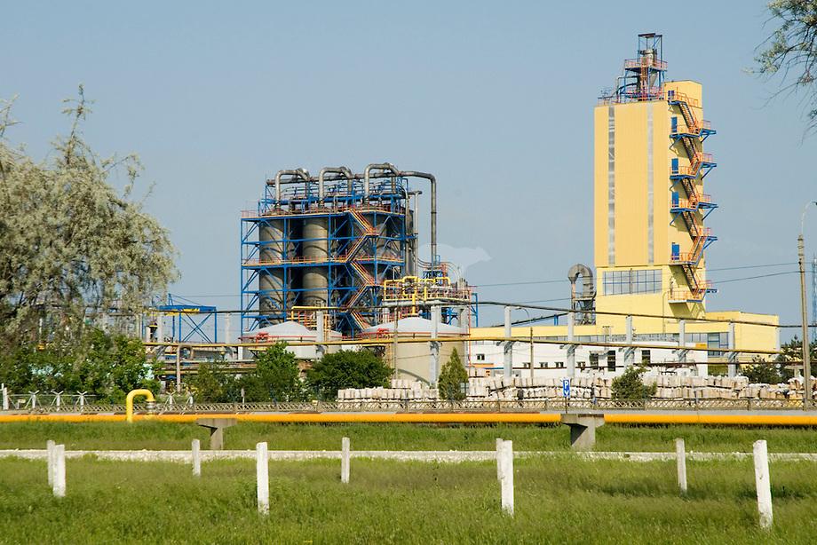 Chemische industrie omgeving Babadag, Roemeni'
