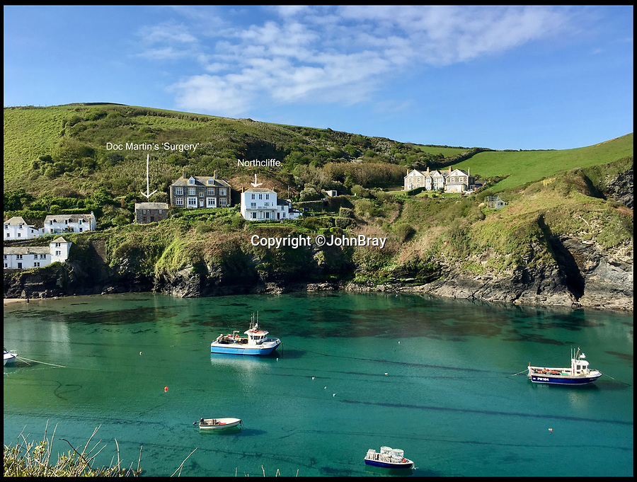 BNPS.co.uk (01202 558833)<br /> Pic: JohnBray/BNPS<br /> <br /> Fancy Martin Clunes as your next door neighbour?<br /> <br /> A striking Cornish hillside home with views out to the Atlantic and just 30 yards from the main filming location for Doc Martin is on the market for £950,000.<br /> <br /> Northcliffe in the village of Port Isaac is the next house up the hill from Fern Cottage, which doubles as Martin Clunes' grumpy character's GP surgery.<br /> <br /> The picturesque property can regularly be seen in the background of the ITV comedy drama, which is currently filming its eighth series in the fishing village, when Doc Martin leaves his surgery.
