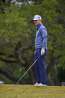 Zach Johnson (USA) looks over his tee shot on 2 during Round 3 of the Valero Texas Open, AT&amp;T Oaks Course, TPC San Antonio, San Antonio, Texas, USA. 4/21/2018.<br /> Picture: Golffile | Ken Murray<br /> <br /> <br /> All photo usage must carry mandatory copyright credit (&copy; Golffile | Ken Murray)