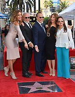 LOS ANGELES, CA. October 10, 2019: Lilli Estefan, Emilio Estefan, Tommy Mottola, Thalia Mottola & Gloria Estefan at the Hollywood Walk of Fame Star Ceremony honoring Tommy Mottola.<br /> Pictures: Paul Smith/Featureflash
