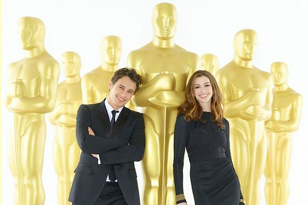"THE 83RD ACADEMY AWARDS¨ - James Franco (left) and Anne Hathaway (right)  will serve as co-hosts of the 83rd Academy Awards, Oscars telecast. Academy Awards for outstanding film achievements of 2010 will be presented on Sunday, February 27, 2011, at the Kodak Theatre at Hollywood & Highland Center, and televised live as ""The 83rd Annual Academy Awards"" on the ABC Television Network. (ABC/BOB D'AMICO)"
