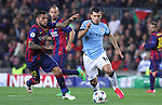11.03.2015 Barcelona.UEFA champions League. Rounf 0f 16 2nd leg. Picture show Sergio Aguero durring game between FC Barcelona against Manchester city at Camp Nou