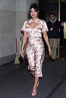 NEW YORK, NY- October 8: Priyanka Chopra Jonas seen exiting NBC'sToday Show in New York City on October 08, 2019.<br /> CAP/MPI/RW<br /> ©RW/MPI/Capital Pictures