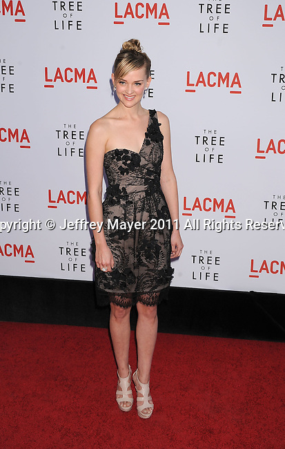 "LOS ANGELES, CA - MAY 24: Jess Weixler attends ""The Tree Of Life"" Los Angeles Premiere at the Bing Theatre in the Los Angeles County Museum of Art on May 24, 2011 in Los Angeles, California."