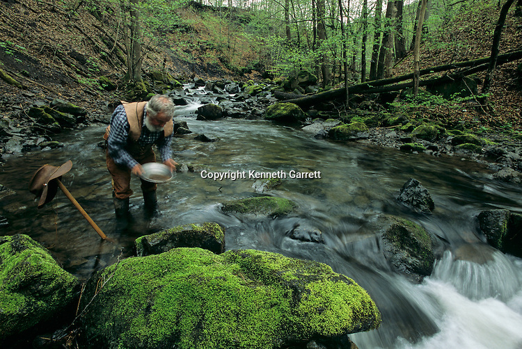 Panning for gold in stream, Richard Kriebich,Sky Disk; Bronze Age; Germany; Ancient Cultures