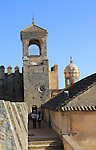 Tower and ramparts in the Alcazar fortress, Cordoba, Spain, Alcázar de los Reyes Cristianos