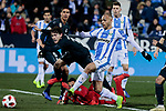 CD Leganes's Martin Braithwaite scores goal during  between Real Madrid and CD Leganes at Butarque Stadium in Madrid, Spain. January 16, 2019. (ALTERPHOTOS/A. Perez Meca)