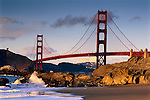 Golden Gate Bridge seen from Baker Beach, San Francisco, California