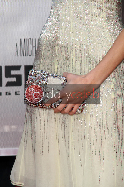 Isabel Lucas's purse<br />at the Los Angeles Premiere of 'Transformers Revenge of the Fallen'. Mann Village Theatre, Westwood, CA. 06-22-09<br />Dave Edwards/DailyCeleb.com 818-249-4998
