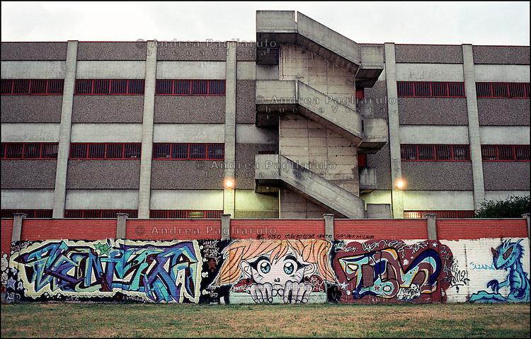 Italia, Milano, murales in periferia Nord. .Murales in the Nord outskirts..© Andrea Pagliarulo