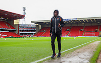 Blackpool's Marc Bola arrives at Oakwell<br /> <br /> Photographer Alex Dodd/CameraSport<br /> <br /> The EFL Sky Bet League One - Barnsley v Blackpool - Saturday 27th April 2019 - Oakwell - Barnsley<br /> <br /> World Copyright © 2019 CameraSport. All rights reserved. 43 Linden Ave. Countesthorpe. Leicester. England. LE8 5PG - Tel: +44 (0) 116 277 4147 - admin@camerasport.com - www.camerasport.com