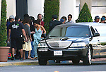 "..April 18th 2012..""Desperate Housewives tv show Filming in Los Angeles "".Vanessa Williams wearing a brown & yellow tie dye dress wedding dress walking with Eva Longoria in a purple & blue  gown leaving the Macy department store in Los Angeles. ...www.AbilityFilms.com.805-427-3519.AbilityFilms@yahoo.com."