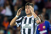 12th September 2017, Camp Nou, Barcelona, Spain; UEFA Champions League Group stage, FC Barcelona versus Juventus; Paulo Dybala of Juventus holds his head as his team goes behind