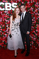NEW YORK, NY - JUNE 10:  Lauren Ambrose  and Sam Handel  at the 72nd Annual Tony Awards at Radio City Music Hall in New York City on June 10, 2018.