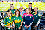Mary O'Connell (Cordal) with John Horan and Kathleen Horan (Scartaglin), Thomas O'Connell (Cordal), Agatha Potts (Killarney) Terry Potts (Killarney) and Theresa Lonergan (Ballymac), pictured at the All Ireland Minor Football Final of Kerry v Derry in Croke Park on Sunday last.