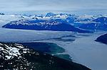 First Americans, Aerial of Taku Glacier, South East Alaska