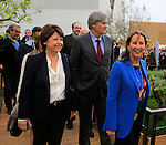 Martine Aubry and Segolene Royal at the first day of Expo Milano 2015, in Milan on May 1, 2015.