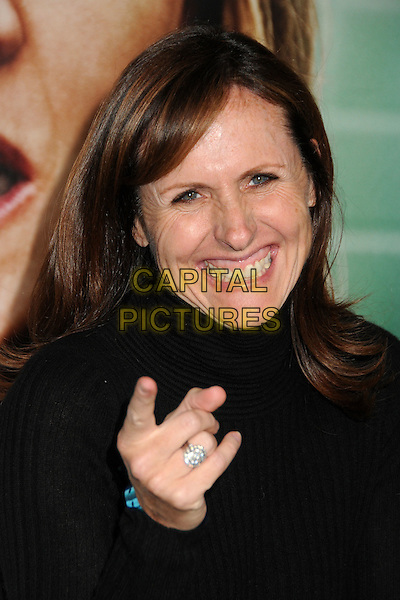"Molly Shannon.HBO's ""Enlightened"" Los Angeles Premiere held at Paramount Studios, Los Angeles, California, USA. .October 6th, 2011.headshot portrait black high collar  smiling hand pointing .CAP/ADM/BP.©Byron Purvis/AdMedia/Capital Pictures."