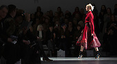 14 February 2014, London, England, UK. A model walks the runway at the Bora Aksu catwalk show during London Fashion Week AW14 at Somerset House, London. Photo credit: Bettina Strenske/LNP