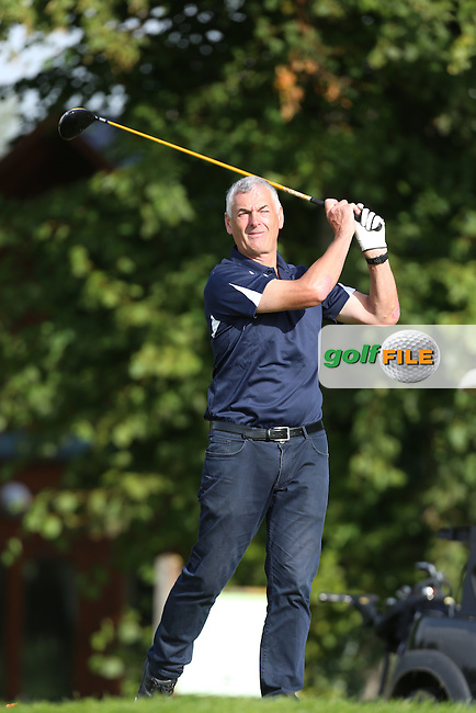 Seamus Burke (Athenry) on the 3rd tee during the AIG Jimmy Bruen Shield Final at Carton House.17/9/16<br /> <br /> Picture: Golffile | Jenny Matthews<br /> <br /> <br /> All photo usage must carry mandatory copyright credit (&copy; Golffile | Jenny Matthews)