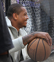 NEW YORK, NY- SEPTEMBER 23: Carmelo Anthony seen at Washington Square Park during a photoshoot in New York City on September 23, 2016. Credit: RW/MediaPunch