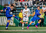 26 October 2019: University of Vermont Catamount Midfielder Daði Bærings Halldórsson, a Junior from Reykjavik, Iceland, in first half action against the University of Massachusetts Lowell River Hawks at Virtue Field in Burlington, Vermont. The Catamounts rallied to defeat the River Hawks 2-1, propelling the Cats to the America East Division 1 conference playoffs. Mandatory Credit: Ed Wolfstein Photo *** RAW (NEF) Image File Available ***