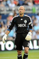 Kasey Keller goalkeeper Seattle Sounders.. Sporting Kansas City were defeated 1-2 by Seattle Sounders at LIVESTRONG Sporting Park, Kansas City, Kansas.