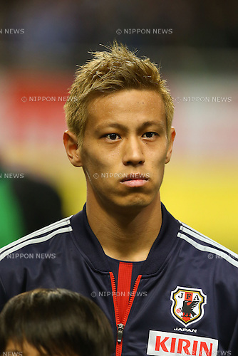 Keisuke Honda (JPN), .FEBRUARY 6, 2013 - Football / Soccer : .KIRIN Challenge Cup 2013 Match between Japan 3-0 Latvia .at Home's Stadium Kobe in Hyogo, Japan. .(Photo by Akihiro Sugimoto/AFLO SPORT)