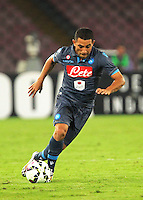 Walter Gargano durante l'incontro  di calco d Seriden A  tra SSC Napoli e US Palermo    allo stadio San Paolo di Napoli , 24 Settembre  2014