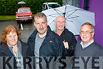 L-R Imelda Ellis, jerry O'Connor, Kevin O'Heir and Pat Hartnett all set to take part in the Vintage and classic car run in aid of DownSyndrome Kerry last Friday evening at O'Riada's of Ballymac.