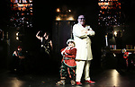 """Kevin James (The Inventor) with cast during a press preview of """"The Illusionists - Magic of the Holidays"""" at the Neil Simon Theatre on December 3, 2019 in New York City."""