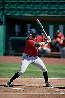 Dalton Griffin (9) of the Idaho Falls Chukars bats against the Ogden Raptors in Pioneer League action at Lindquist Field on July 2, 2017 in Ogden, Utah. Ogden defeated Idaho Falls 6-5. (Stephen Smith/Four Seam Images)