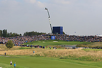 The 11th green during the Friday Foursomes at the Ryder Cup, Le Golf National, Ile-de-France, France. 28/09/2018.<br /> Picture Thos Caffrey / Golffile.ie<br /> <br /> All photo usage must carry mandatory copyright credit (© Golffile | Thos Caffrey)