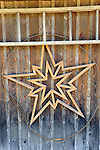 Marilyn and Dave Seelings Farm. Susque Road, Lycoming County, PA.Handmade star in rim on barn side.