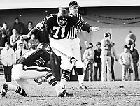 Gerry Organ Ottawa Rough Riders kicker 1971. Copyright photograph Scott Grant