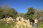 Hurvat Seadim in Jerusalem mountains