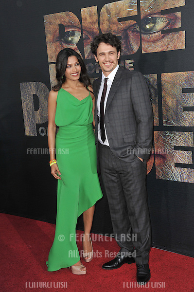 "James Franco & Freida Pinto at the Los Angeles premiere of their new movie ""Rise of the Planet of the Apes"" at Grauman's Chinese Theatre, Hollywood..July 28, 2011  Los Angeles, CA.Picture: Paul Smith / Featureflash"