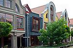 Budynki mieszkalno - usługowe przy nowo powstałej ul. Pasaż Portowy. Giżycko