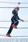 Caoimhe Ní Shúilleabhain (An Fheothanach) enjoying the high ropes during the Family Fun Day at the Dingle Climbing Wall on Sunday afternoon.