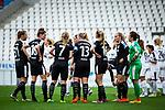 16.03.2019, Stadion Essen, Essen, GER, AFBL, SGS Essen vs TSG 1899 Hoffenheim, DFL REGULATIONS PROHIBIT ANY USE OF PHOTOGRAPHS AS IMAGE SEQUENCES AND/OR QUASI-VIDEO<br /> <br /> im Bild | picture shows:<br /> Nach dem zweiten Gegentor versammelt sich das Team des FFC zum Gespr&auml;ch, <br /> <br /> Foto &copy; nordphoto / Rauch