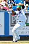 17 March 2007: New York Mets shortstop Jose Reyes in action against the Washington Nationals on St. Patrick's Day at Tradition Field in Port St. Lucie, Florida...Mandatory Photo Credit: Ed Wolfstein Photo