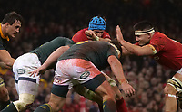 Wales' Justin Tipuric looks for a way through the South African defence<br /> <br /> Photographer Ian Cook/CameraSport<br /> <br /> Under Armour Series Autumn Internationals - Wales v South Africa - Saturday 24th November 2018 - Principality Stadium - Cardiff<br /> <br /> World Copyright &copy; 2018 CameraSport. All rights reserved. 43 Linden Ave. Countesthorpe. Leicester. England. LE8 5PG - Tel: +44 (0) 116 277 4147 - admin@camerasport.com - www.camerasport.com