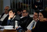 Roma, 24Novembre 2015<br /> Giosuè Bruno Naso, avvocato difensore di Massimo Carminati con la figlia Ippolita Naso.<br /> Aula bunker di Rebibbia<br /> Quarta udienza del processo Mafia Capitale,