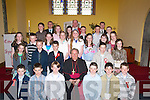 A beautiful day out for the pupils of 6th class of Spa National School, on Monday as they were confirmed by the Bishop of Kerry Bill Murphy on Monday in the church of the Purifcation Churchill.   Copyright Kerry's Eye 2008