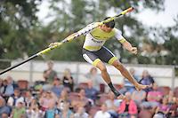 FIERLJEPPEN/POLSTOKVERSPRINGEN: IT HEIDENSKIP: 31-08-2016, Nationale Competitie, winnaar Bart Helmholt met 20.18 meter, ©foto Martin de Jong