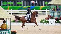 FRA-Pierre Volla rides Badinda Altena in the Grand Prix Special for the Equestrian Dressage. Rio 2016 Olympic Games, Centro Olímpico de Hipismo, Rio de Janeiro, Brazil. Friday 12 August. Copyright photo: Libby Law Photography