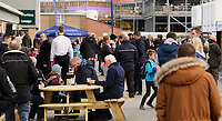 Lincoln City fans enjoy the pre-match atmosphere in the fan zone<br /> <br /> Photographer Chris Vaughan/CameraSport<br /> <br /> Emirates FA Cup First Round - Lincoln City v Northampton Town - Saturday 10th November 2018 - Sincil Bank - Lincoln<br />  <br /> World Copyright &copy; 2018 CameraSport. All rights reserved. 43 Linden Ave. Countesthorpe. Leicester. England. LE8 5PG - Tel: +44 (0) 116 277 4147 - admin@camerasport.com - www.camerasport.com