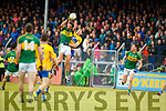 Anthony Maher Kerry in action against Gary Brennan Clare in the Munster Senior Football Championship Semi Final in Ennis on Sunday.