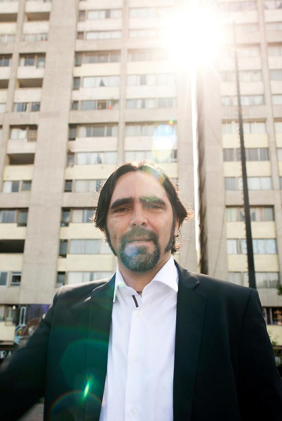 Mexican Film Director Carlos Bolado in Tlateloco, Mexico DF.