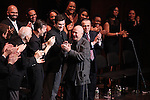 Dick Latessa, Jarrod Emick, Matt Cavenaugh, Michael McCormick, Terrence McNally & Company  during the Curtain Call for the Manhattan Concert Production of 'Ragtime - In Concert' at Avery Fisher Hall in New York City on 2/18/2013